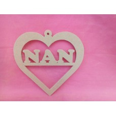 4mm MDF Heart NAN